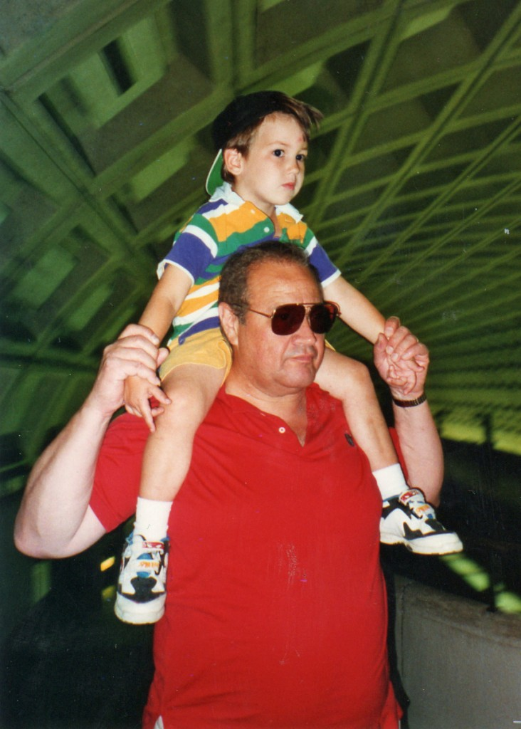 Andrew & my dad during a 1996 visit.
