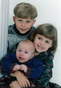 Alex with big brother Nickolas & big sister Megan.