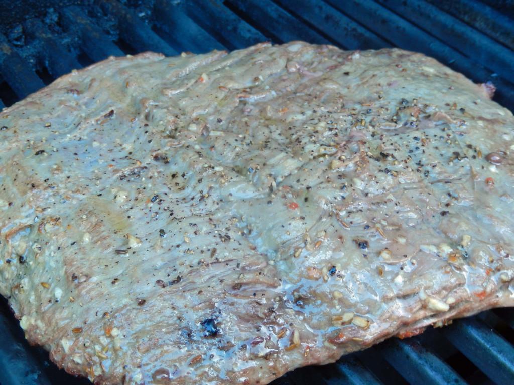Grill the steak over medium high heat.