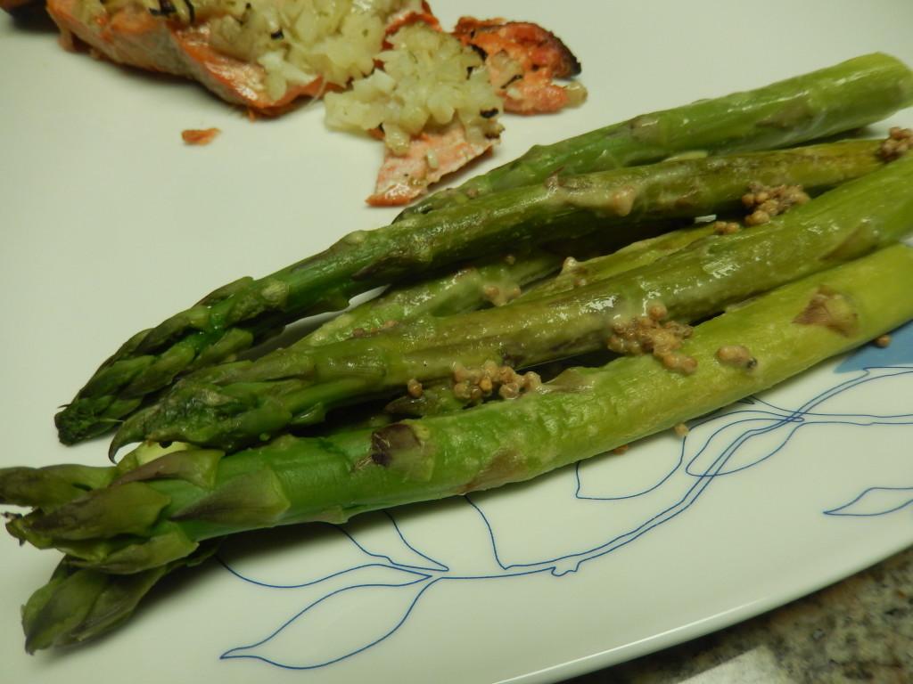 Mustard-Dressed Asparagus