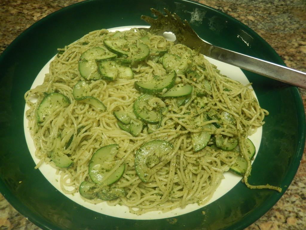 Pasta with Zucchini & Pesto