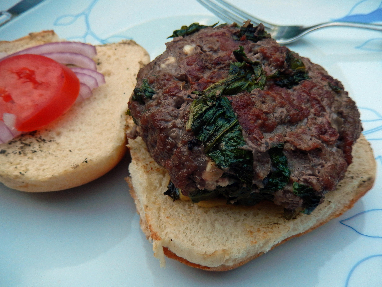 Spinach & Feta Burger