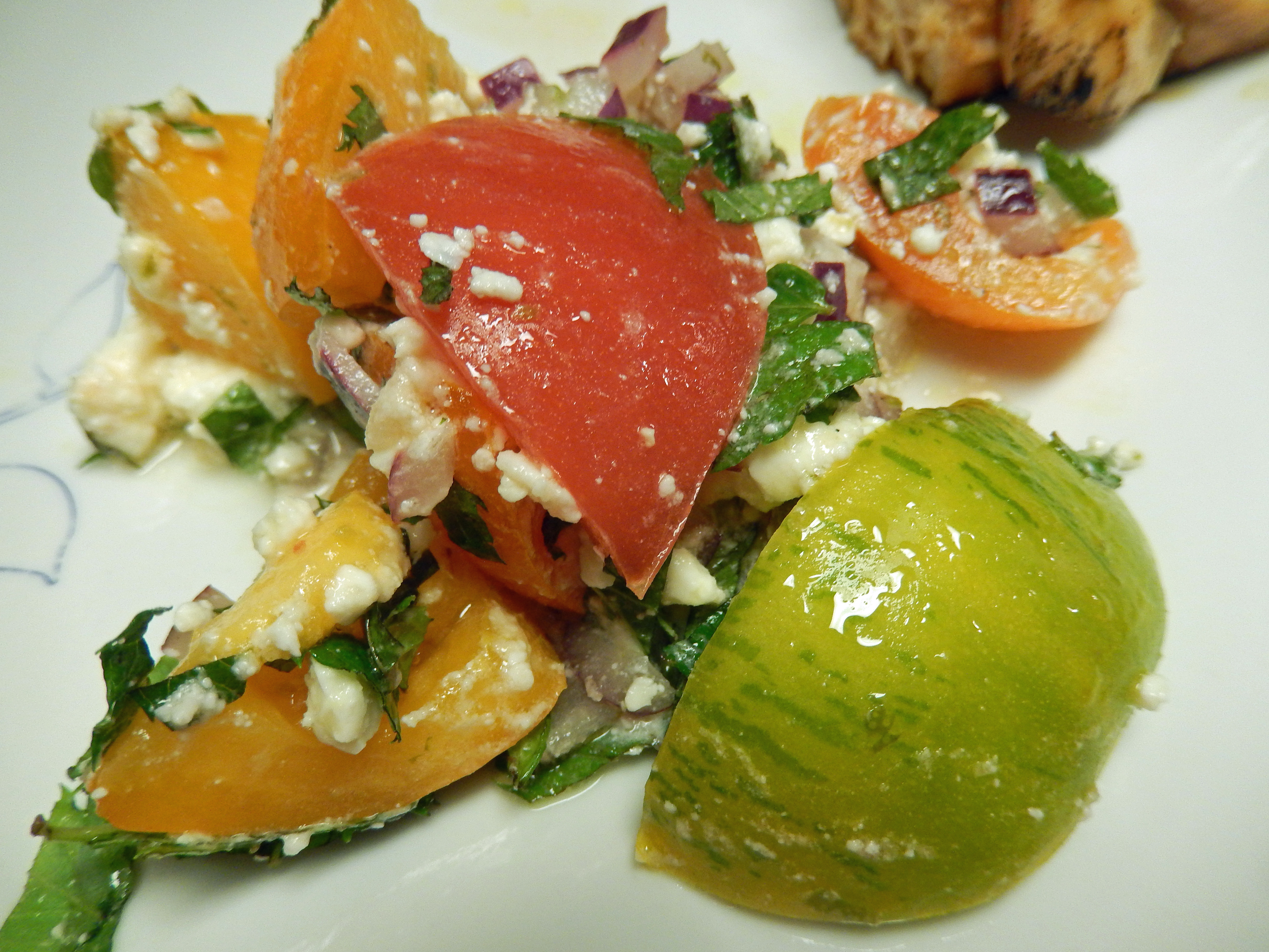 Heirloom Tomatoes – Tomato & Feta Salad | Why Go Out To Eat?