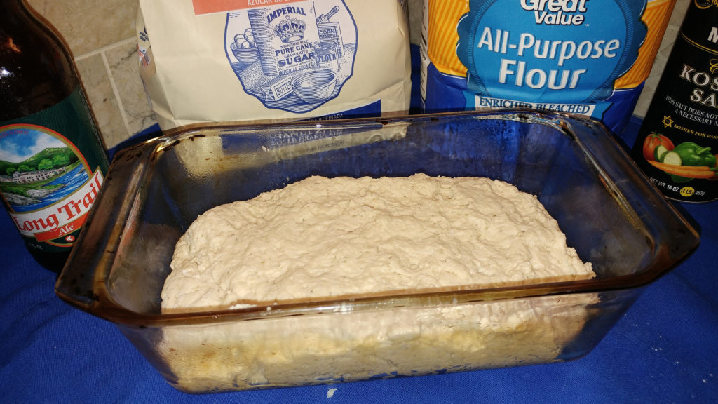 Turn the dough into the prepared load pan.