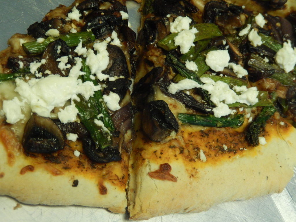 The Perfect Food – Asparagus, Mushroom, and Onion Pizza